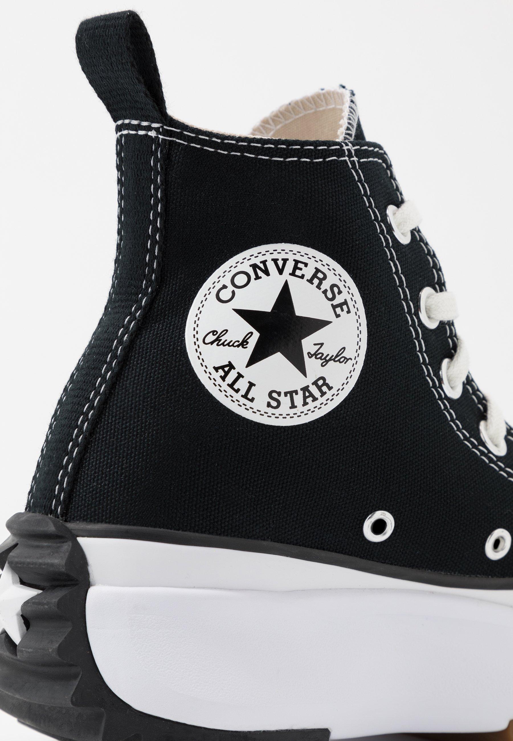 Converse RUN STAR HIKE Sneaker high black/white/gum/schwarz