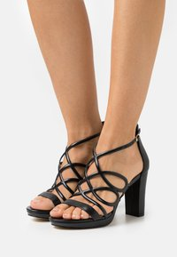 Anna Field - LEATHER - High heeled sandals - black - 0