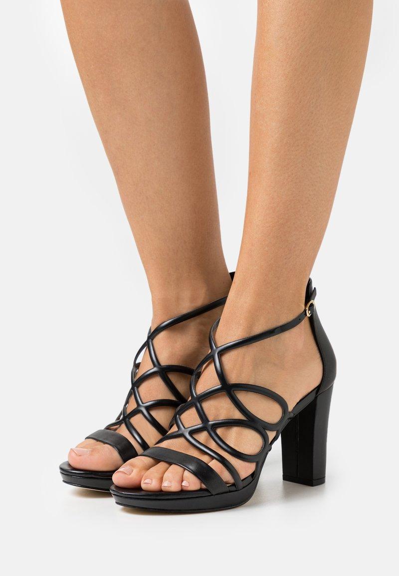 Anna Field - LEATHER - High heeled sandals - black