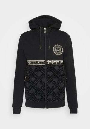 SINTOS HOOD - veste en sweat zippée - black/gold