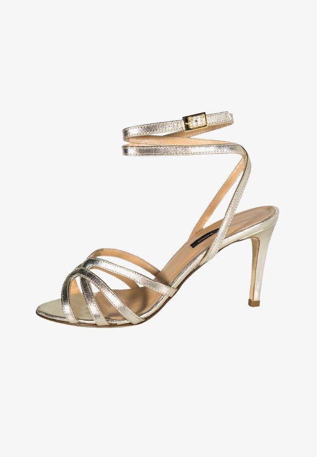 GRETA - Sandales à talons hauts - platino