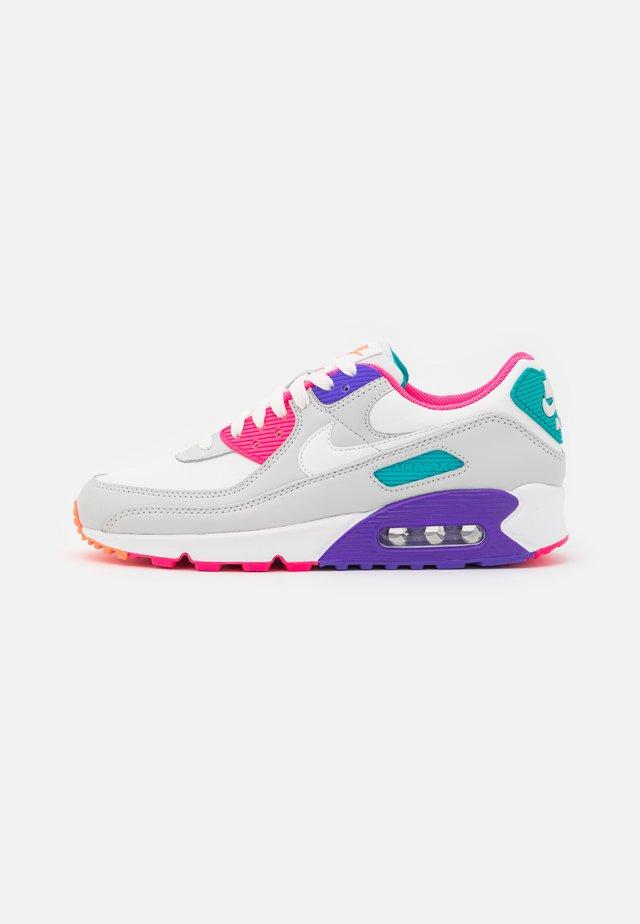 AIR MAX 90 - Sneakers laag - photon dust/summit white/hyper grape/hyper pink/turbo green/hyper orange