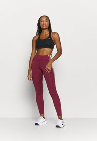 Nike Performance - ONE COLORBLOCK - Tights - dark beetroot/red bronze - 1