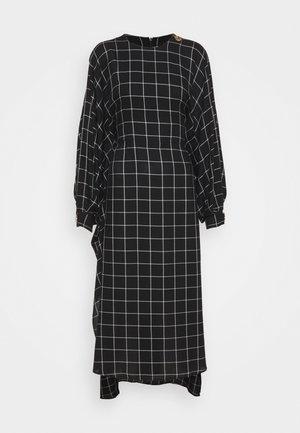BAT WING DRESS WITH BIB FRONT - Denní šaty - black/white