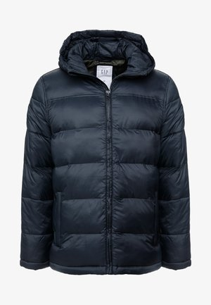 HOODED HEAVYWEIGHT PUFFER - Chaqueta de invierno - true black