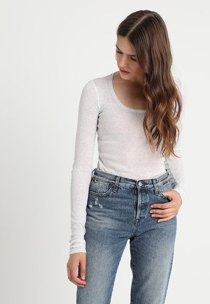 Long sleeved top - gris chine