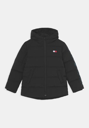 REFLECTIVE PRINT HOODED  - Winter jacket - black