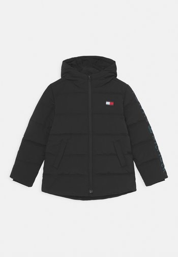REFLECTIVE PRINT HOODED  - Giacca invernale - black