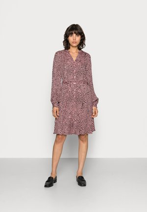 DORIEN FRILL DRESS - Sukienka koszulowa - lovely pink/black
