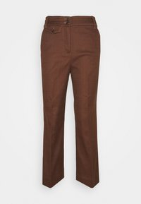 J.CREW - SOLID ANDERSON PANT - Trousers - dark twig - 0