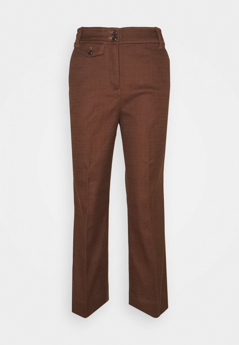 J.CREW - SOLID ANDERSON PANT - Trousers - dark twig