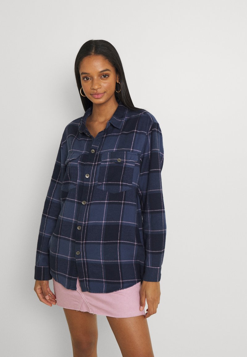 Roxy - TURN IT UP CHECK - Button-down blouse - mood indigo party