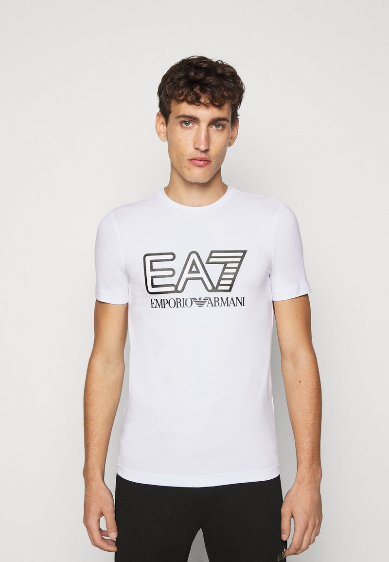 EA7 Emporio Armani - T-shirt imprimé - white