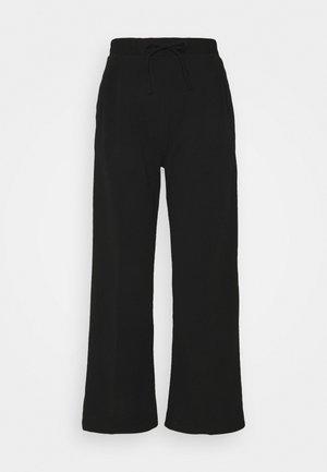 WIDE LEG JOGGER - Trousers - black