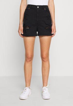 CURVY MOM  - Denim shorts - black wash