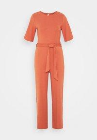 Even&Odd - BASIC - Jumpsuit with belt - Combinaison - bruschetta - 4