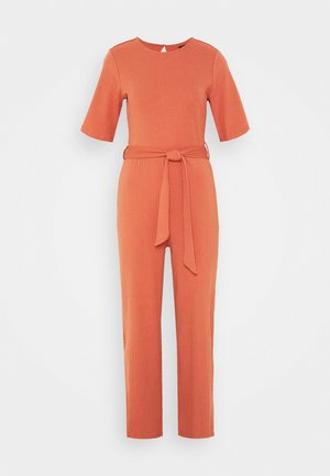 BASIC - Jumpsuit with belt - Overall / Jumpsuit - bruschetta