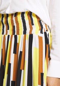 Masai - SONDRA - Áčková sukně - cream gold - 4