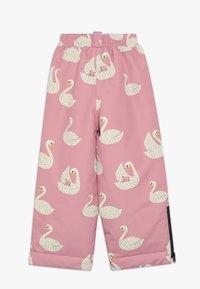 Småfolk - WINTER PANTS WITH SWAN - Snow pants - winter pink - 2