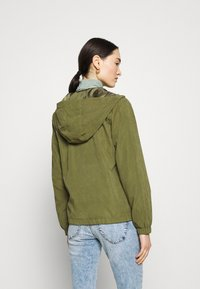 JDY - JDYNEWHAZEL SHINE JACKET - Summer jacket - winter moss - 2