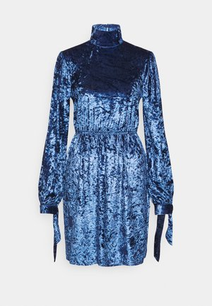COSTELLO CRUSHED HIGH NECK  - Vapaa-ajan mekko - blue