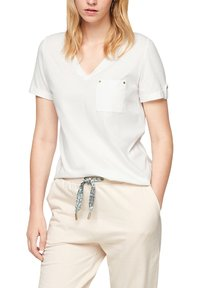 s.Oliver - BRUSTTASCHE - Basic T-shirt - offwhite - 4
