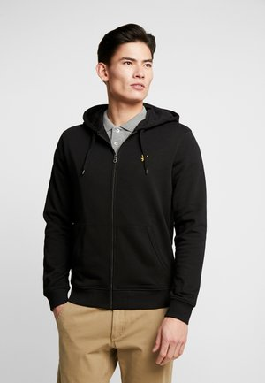 ZIP THROUGH HOODIE - Huvtröja med dragkedja - jet black