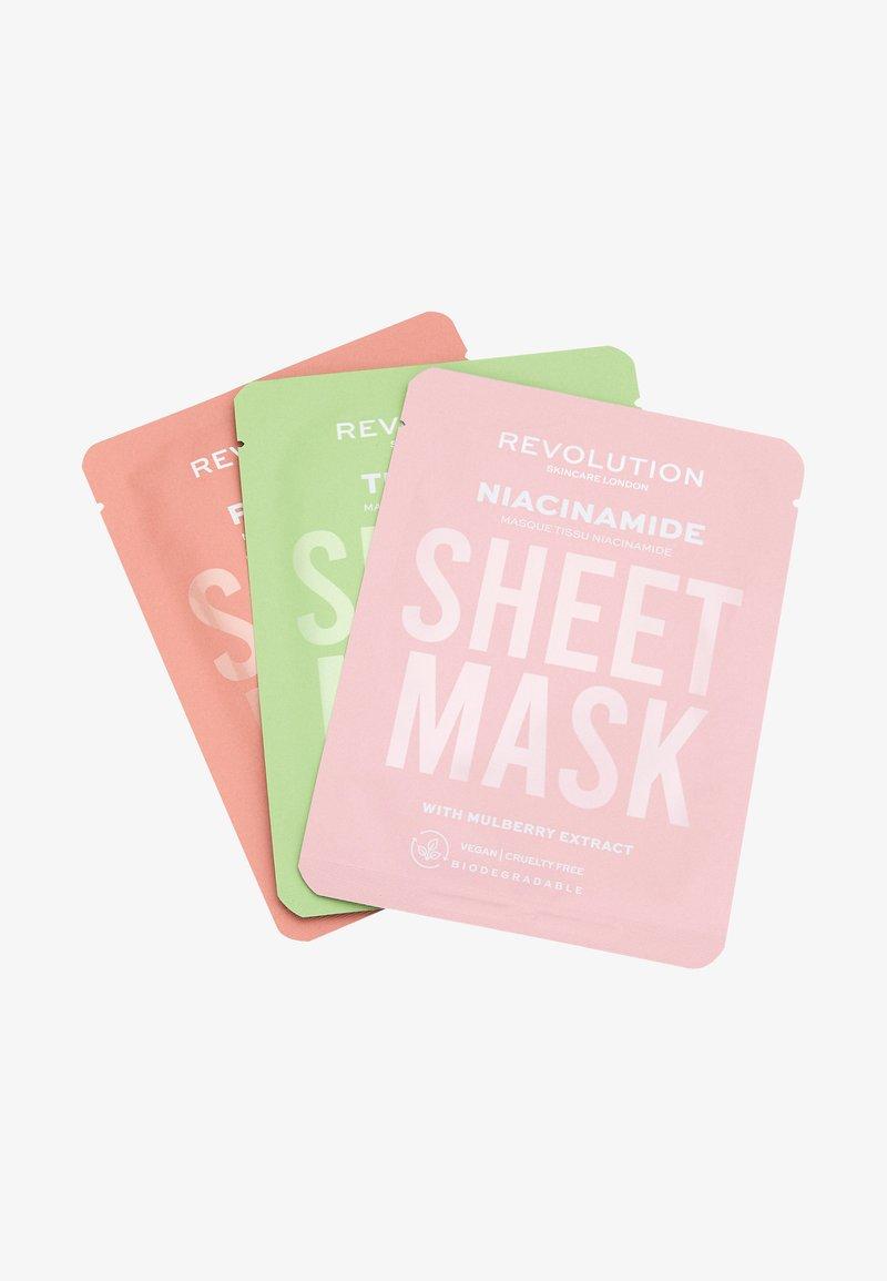Revolution Skincare - BIODEGRADABLE OILY SKIN SHEET MASK - Zestaw do pielęgnacji - -