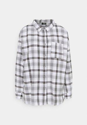 BOYFRIEND - Skjortebluser - jamie check ash grey