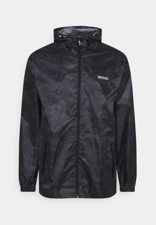 PRINTD PACK IT - Outdoorjas - black camo