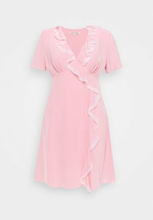 RUFFLE DRESS - Freizeitkleid - pink