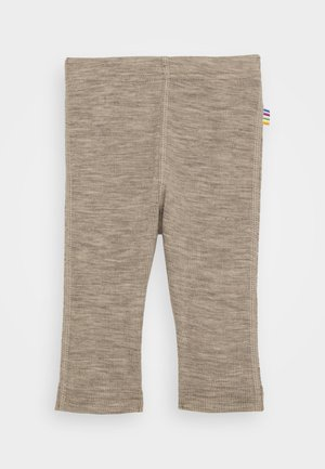 Leggings - Trousers - mottled light brown