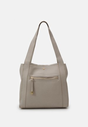 LEATHER - Handbag - taupe