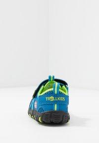 TrollKids - KIDS SANDEFJORD - Walking sandals - medium blue/lime - 4
