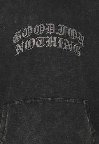 Good For Nothing - ACID WASH RHINESTONE HOOD - Felpa - grey - 2