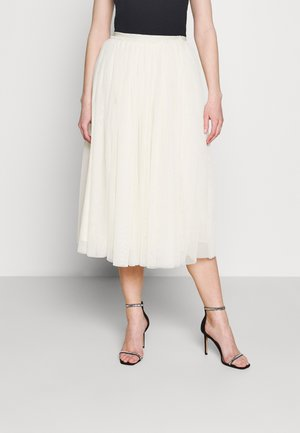 YASBEDDA MIDI SKIRT - Áčková sukně - pearled ivory