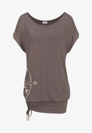 BUSINESS GARLAND - Jersey dress - taupe