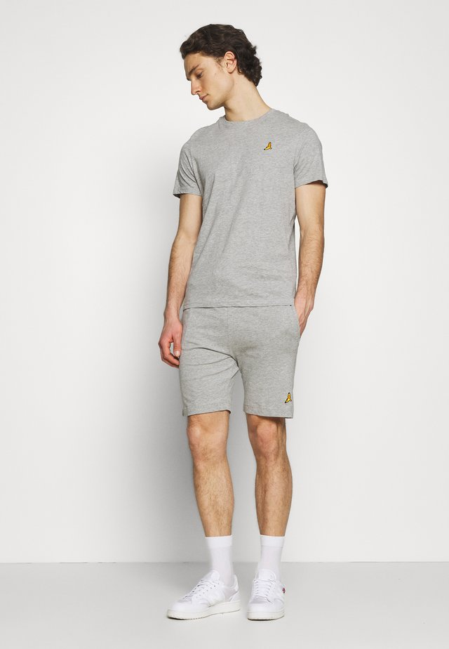 FINNAN SET - Kraťasy - light grey marl