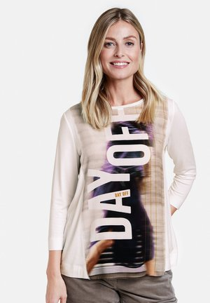 MIT PLATZIERTEM PRINT - Long sleeved top - off-white