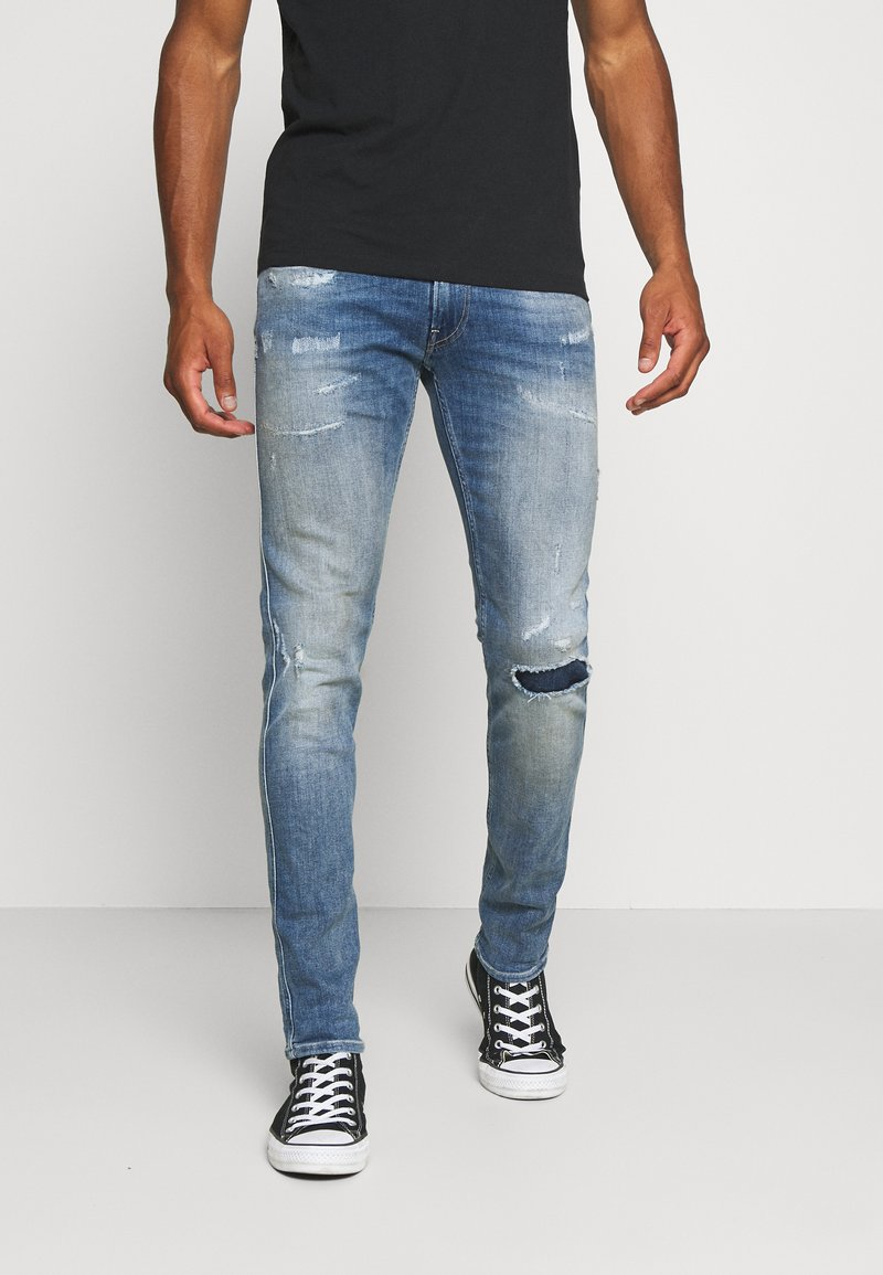 Replay - ANBASS AGED - Slim fit jeans - light blue