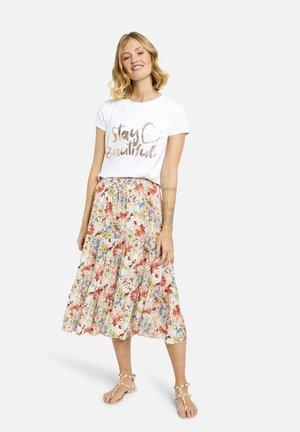 Áčková sukně - natur print
