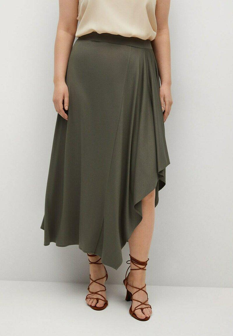 Violeta by Mango - ELSA - A-line skirt - khaki
