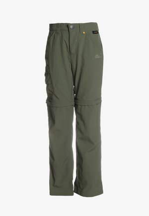 SAFARI ZIP OFF PANTS 2-IN-1 - Długie spodnie trekkingowe - woodland green