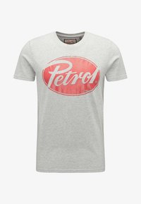 Petrol Industries - T-shirt med print - light grey melee - 4