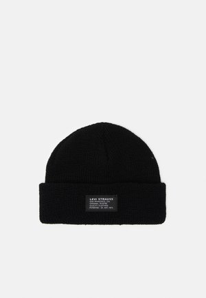 CROPPED BEANIE UNISEX - Beanie - regular black