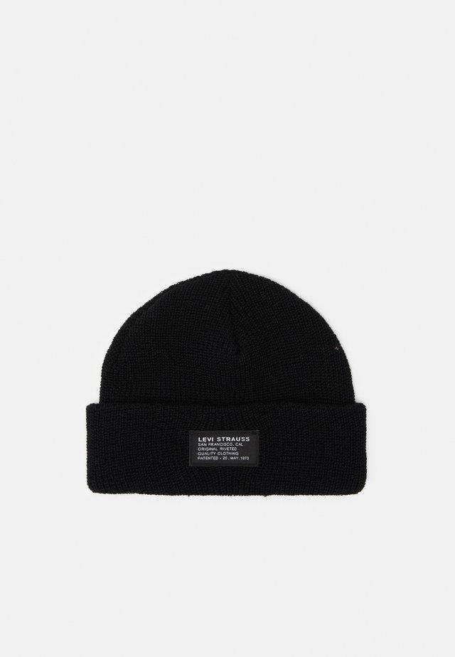 CROPPED BEANIE UNISEX - Mütze - regular black