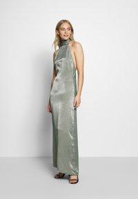 UNIQUE 21 - HALTERNECK OPEN BACK DRESS - Společenské šaty - green - 0