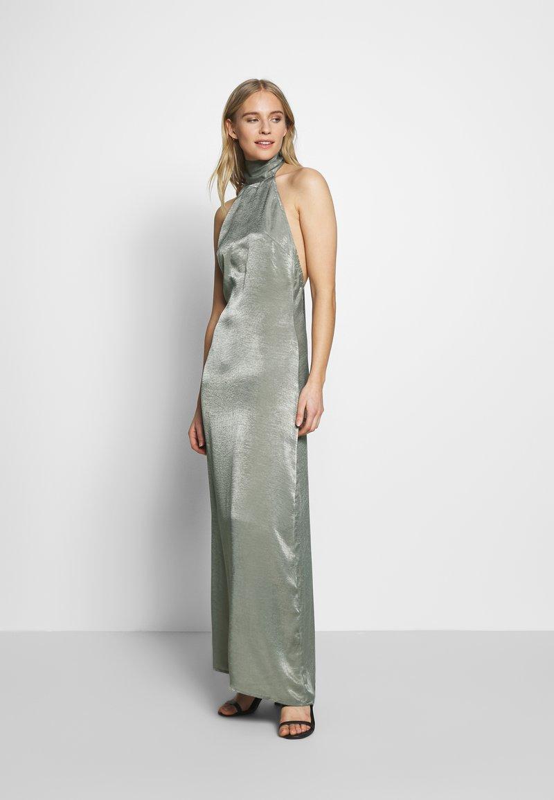 UNIQUE 21 - HALTERNECK OPEN BACK DRESS - Společenské šaty - green