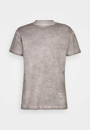 ON THE RUN PIGMENT DYE UNISEX - T-shirt imprimé - dark grey