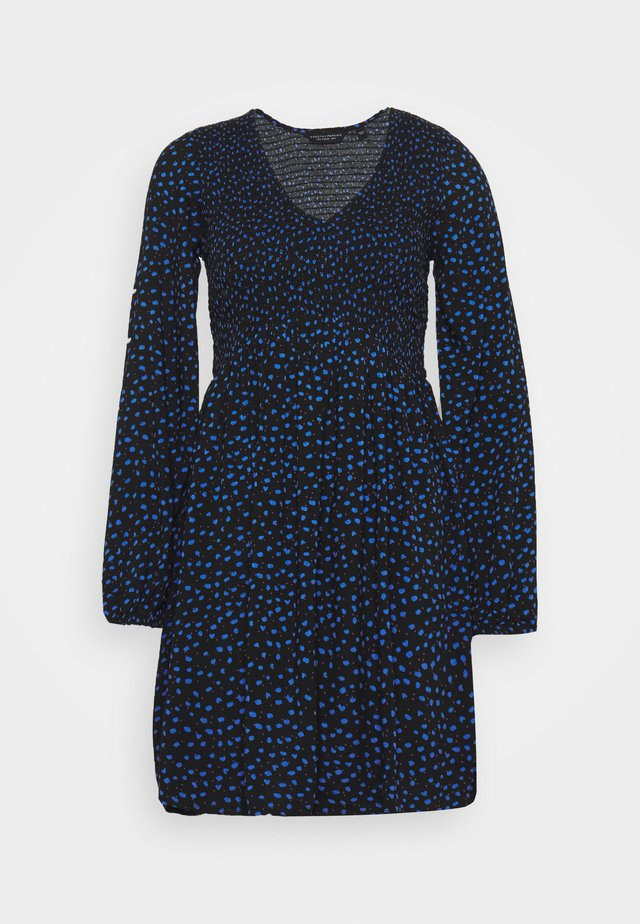 SPOT SMOCKED DRESS - Sukienka letnia - black